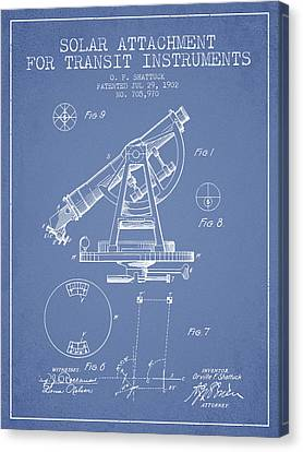 Solar Attachement For Transit Instruments Patent From 1902 - Lig Canvas Print by Aged Pixel