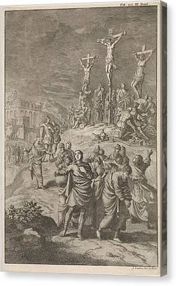 Solar Eclipse At The Death Of Christ, Jan Luyken Canvas Print by Jan Luyken And William Broedelet