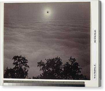 Solar Eclipse Carleton Watkins, American Canvas Print by Litz Collection