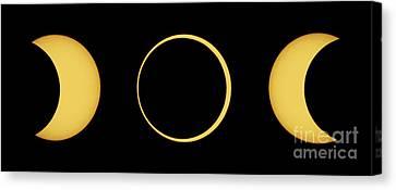 Solar Eclipse Sequence Canvas Print