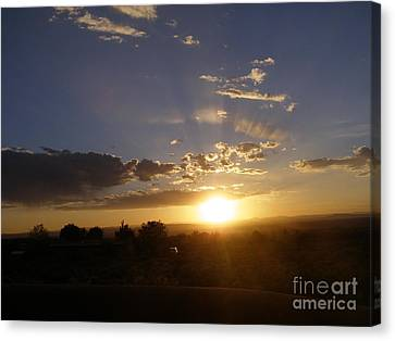 Solar Eclipse Sunset Canvas Print