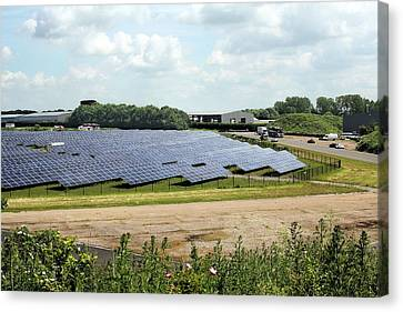 Solar Farm Canvas Print by Martin Bond