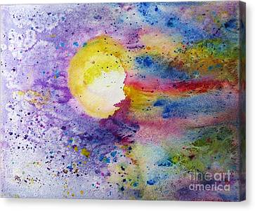 Solar Flair Canvas Print by Desiree Paquette