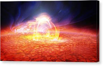 Solar Flare Canvas Print by Don Dixon