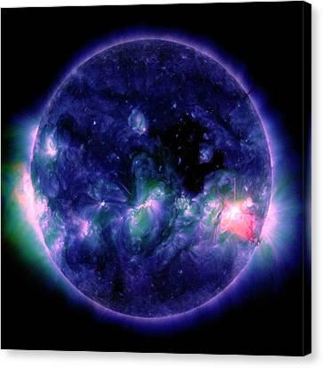 Solar Flare Canvas Print by Nasa/sdo