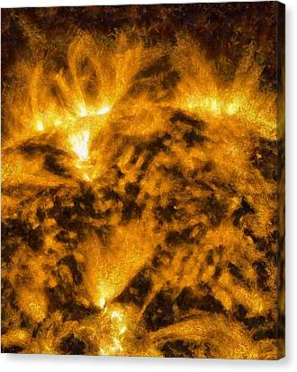 Solar Flare On The Sun Canvas Print