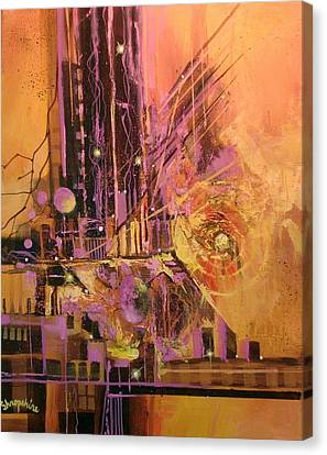 Non-objective Art Canvas Print - Solar Flare by Tom Shropshire
