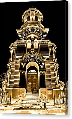 Solar Gold - Nativity Of Christ Orthodox Cathedral - Riga - Latvia Canvas Print by David Hill