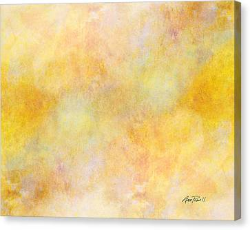 Solar Heat Abstract Art Canvas Print by Ann Powell