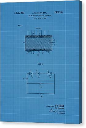 Solar Panel Blueprint Patent Canvas Print