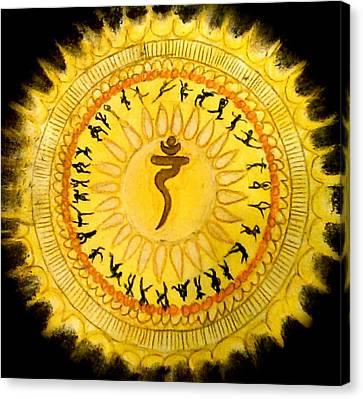 Ambition Canvas Print - Solar Plexus Chakra by Jennie Hallbrown