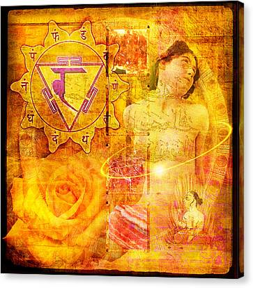 Solar Plexus Chakra Canvas Print by Mark Preston
