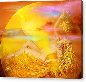 Solar Plexus Goddess Canvas Print by Carol Cavalaris