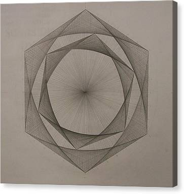 Solar Spiraling Canvas Print by Jason Padgett