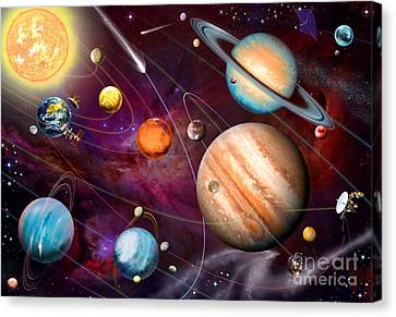 Solar System 2 Canvas Print by Garry Walton