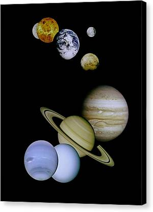 Solar System Montage Canvas Print by Movie Poster Prints