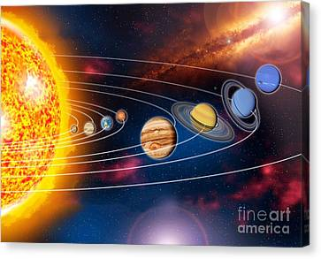 Solar System Planets Canvas Print by Jos� Antonio Pe�as