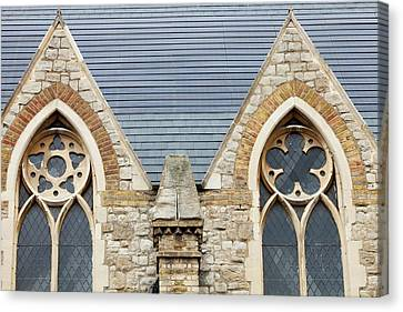 Blend Canvas Print - Solar Tiles On A Church by Ashley Cooper