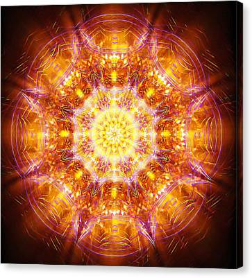 Canvas Print featuring the painting Solarene by Jalai Lama