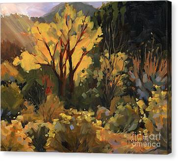 Canvas Print featuring the painting Sold- All That Glitters by Nancy  Parsons