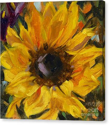 Canvas Print featuring the painting Sold Flower Power by Nancy  Parsons