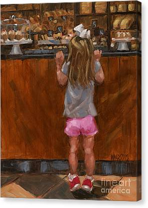 Sold - Good Golly Miss Mollie Canvas Print by Nancy  Parsons