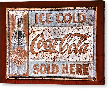 Sold Here Canvas Print by Karol Livote