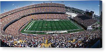 Sold Out Crowd At Mile High Stadium Canvas Print by Panoramic Images