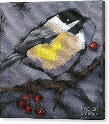 Canvas Print featuring the painting Sold Thanks-giving Bird by Nancy  Parsons