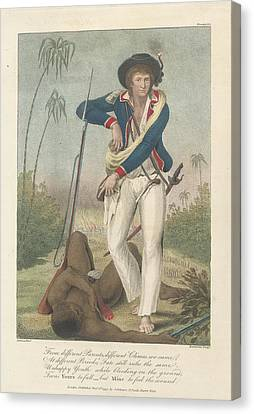 Soldier And A Dead Native Canvas Print by British Library