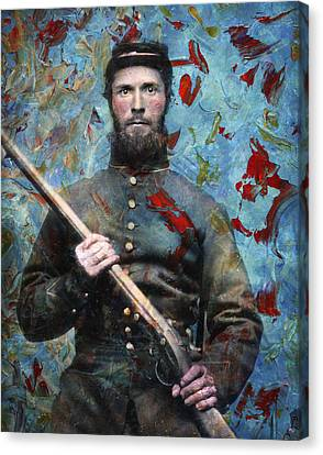 Soldier Fellow 2 Canvas Print by James W Johnson