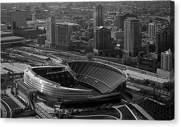 Soldier Field Chicago Sports 05 Black And White Canvas Print