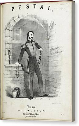 Pestal Canvas Print - Soldier In Chains In A Prison Cell by British Library
