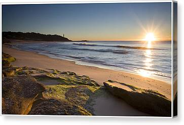 Soldiers Beach Canvas Print by Steve Caldwell