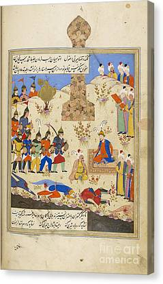 Baghdad Canvas Print - Soldiers Filing Before Timur by British Library