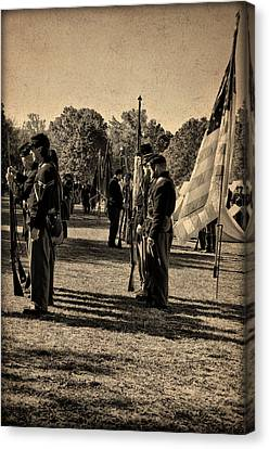 Soldiers In Formation Canvas Print by Bill Cannon
