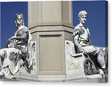 Soldiers Monument Detail Canvas Print by Paul W Faust -  Impressions of Light