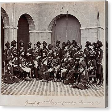 Sir Charles Canvas Print - Soldiers Of The 2nd Punjab Cavalry by British Library