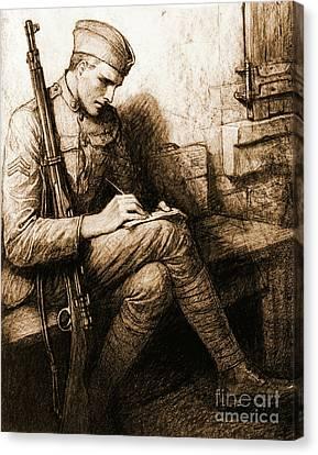 Soldier's Valentine 1918 Canvas Print