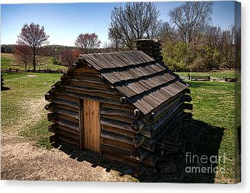 Soldiers Wood Cabin  Canvas Print by Olivier Le Queinec