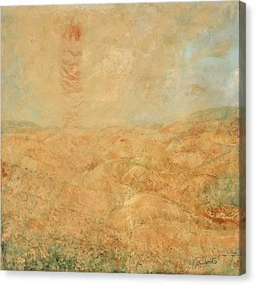Canvas Print featuring the painting Sole Del Leone Di Forenza by Giovanni Caputo