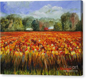 Solebury Autumn Canvas Print by Cindy Roesinger