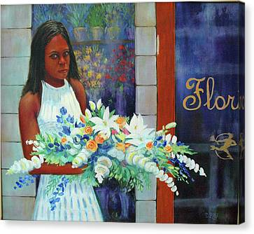 Canvas Print featuring the painting Solemn Occasion by Dwain Ray