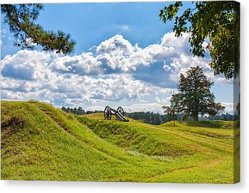 American Independance Canvas Print - Solitary Cannon At Yorktown by John M Bailey