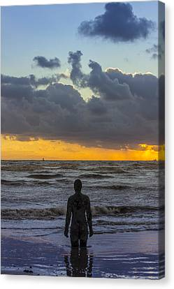 Solitary Iron Man At Crosby Beach Canvas Print