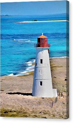 Canvas Print featuring the photograph Solitary Lighthouse by Pamela Blizzard