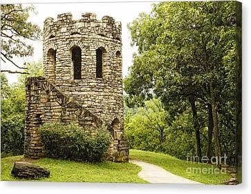Canvas Print featuring the photograph Solitary Stone Tower by Lincoln Rogers