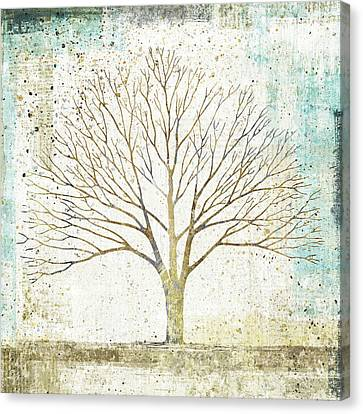 Solitary Tree Collage Canvas Print