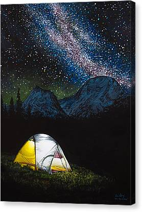 Night Lamp Canvas Print - Solitude by Aaron Spong