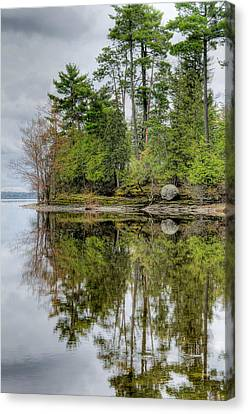 Solitude At Pinheys Point Ontario Canvas Print by Rob Huntley